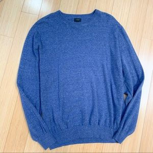 J. CREW heather blue crewneck sweater, XL.